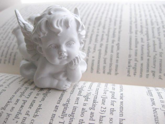 洋書と天使